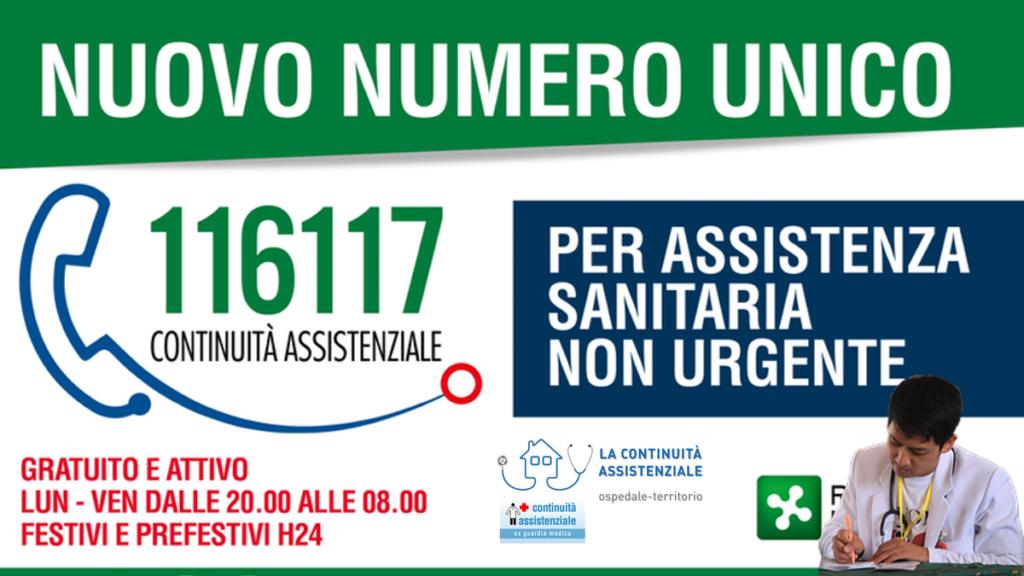Da oggi in vigore il nuovo Numero Unico 116117 della Continuità Assistenziale, ex Guardia Medica